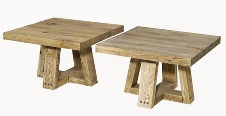 Dębowe stoły drewniane Square JADIK