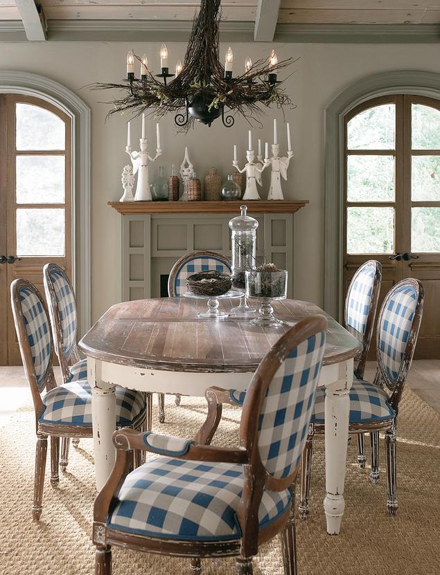 Jadalnia w stylu rustykalnym. Wnętrza przytulne i romantyczne