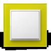 Łącznik jednobiegunowy ŁP-1Y/00 i ramka R-1YGC/60/00 seria Impresja OSPEL