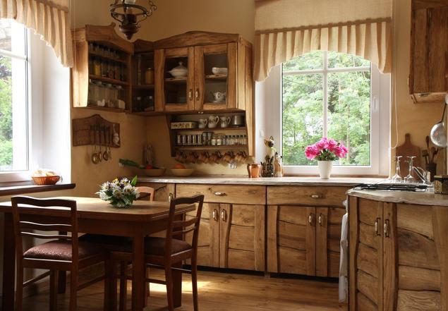 Aranżacja kuchni - styl rustykalny