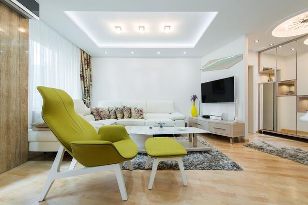 Mały salon w nowoczesnym stylu