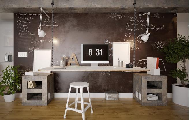 Domowe biuro - aranżacja wnętrza