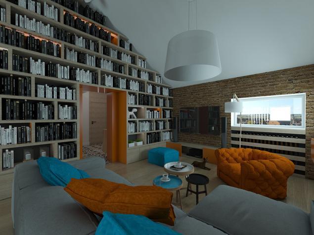 Aranżacja dużego salonu na poddaszu – pomysł na ciekawe wnętrze